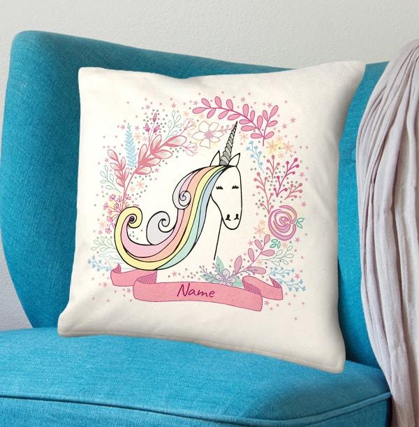 Unicorn Dreamland Personalised Cushion