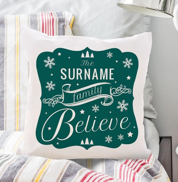 Believe In Santa Personalised Cushion