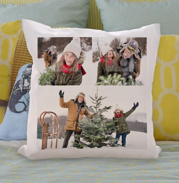 Triple Photo Upload Cushion