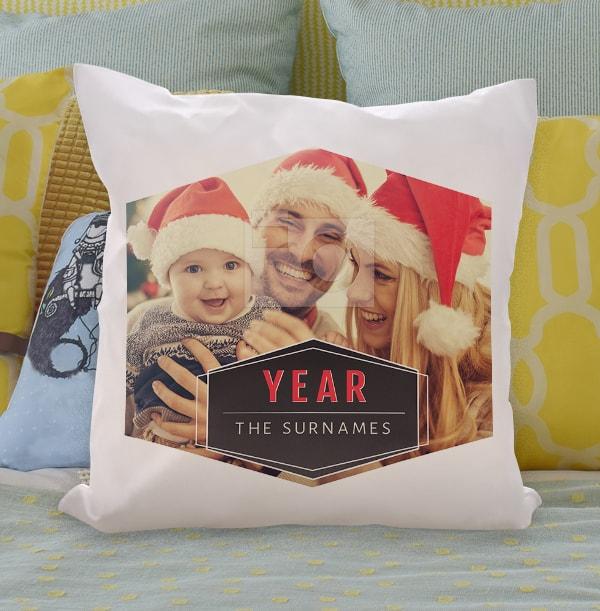 Christmas Family Photo Cushion