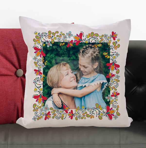 Flower Frame Photo Cushion