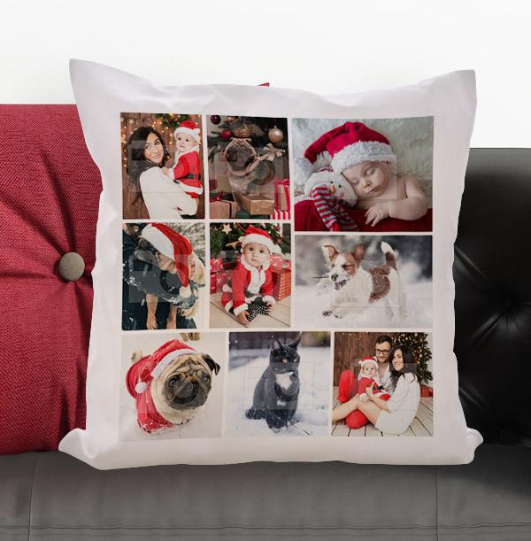 Christmas Multi Photo Personalised Cushion