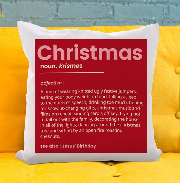 Christmas Definition Personalised Cushion