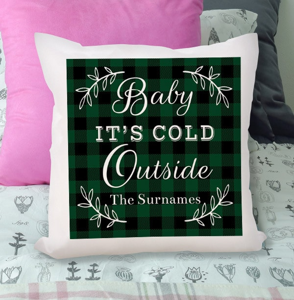 Baby It's Cold Outside Personalised Cushion