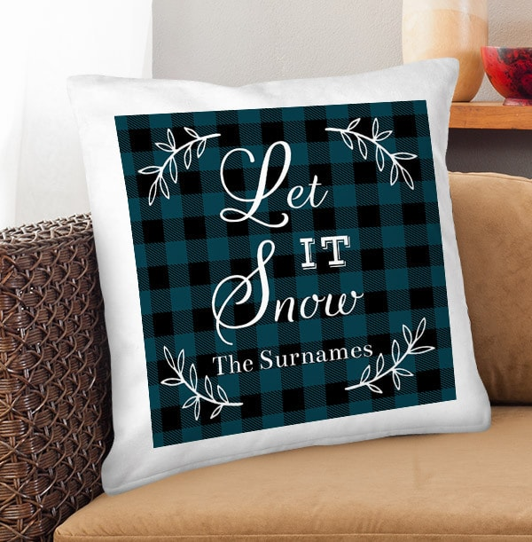 Let it Snow Personalised Cushion