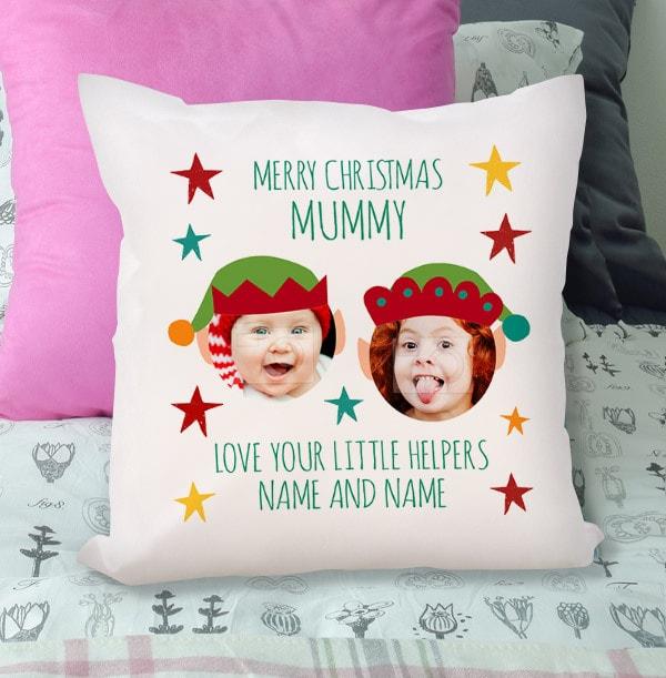 Merry Christmas Mummy Photo Cushion
