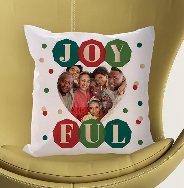 Joyful Photo Cushion