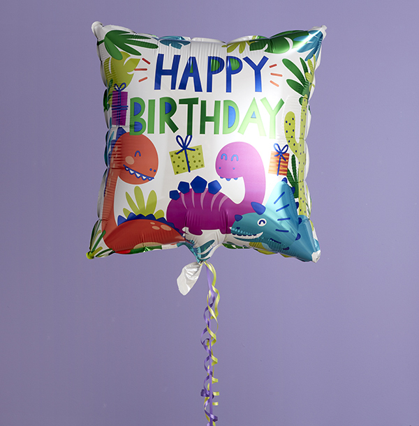 Happy Birthday Dinosaurs Balloon