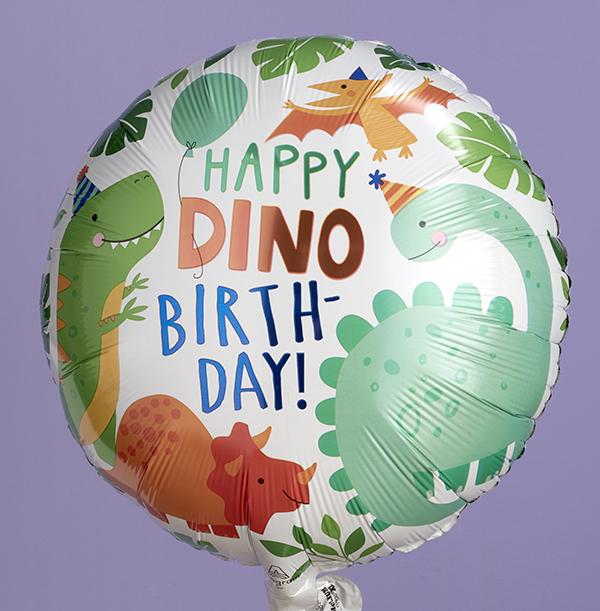 Happy Dino Birthday Balloon