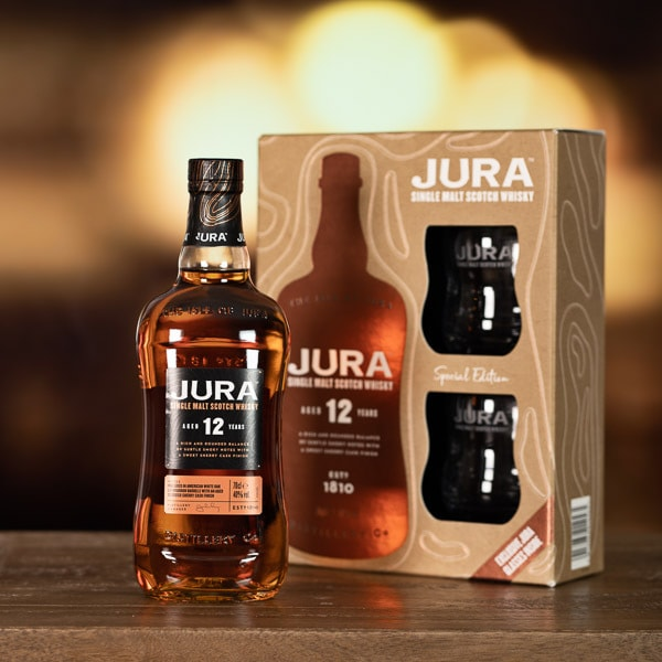 Jura 12 Year Old Whisky Gift Pack