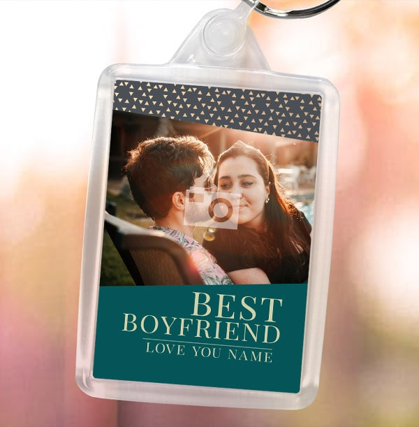 Best Boyfriend Photo Keyring
