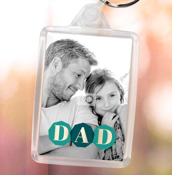 DAD Full Photo Keyring