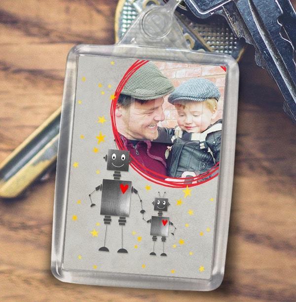 ZDISC Robot Themed Photo Keyring