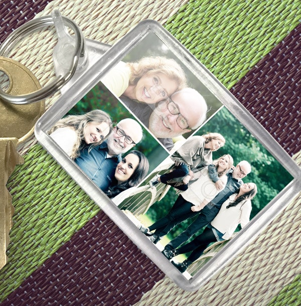 Keyring with 3 Photos