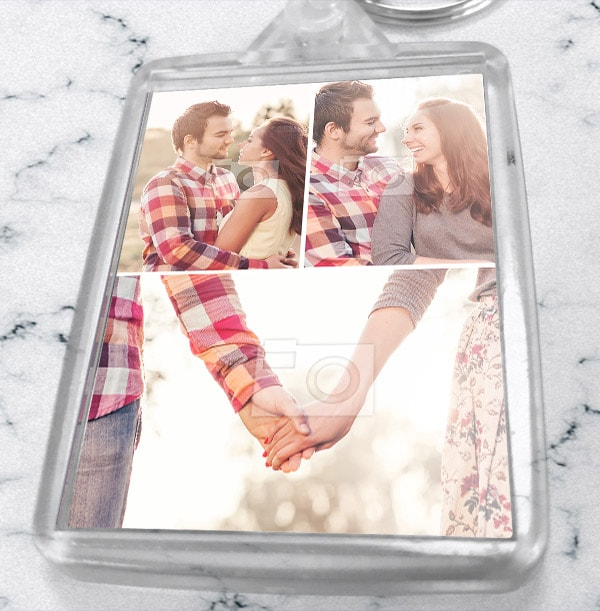 Keyring With 3 Photos - Portrait