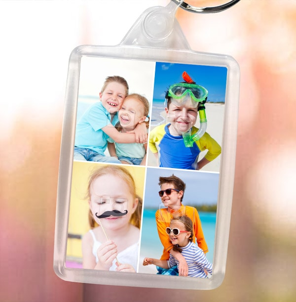 Keyring with 4 Photos
