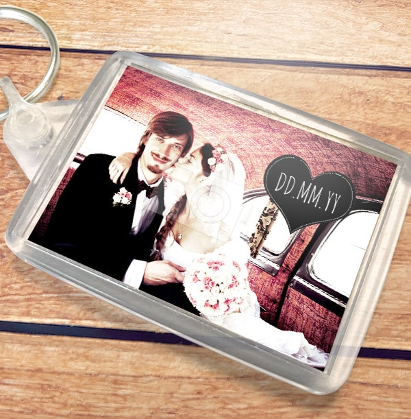 Full Photo with Date Personalised Keyring