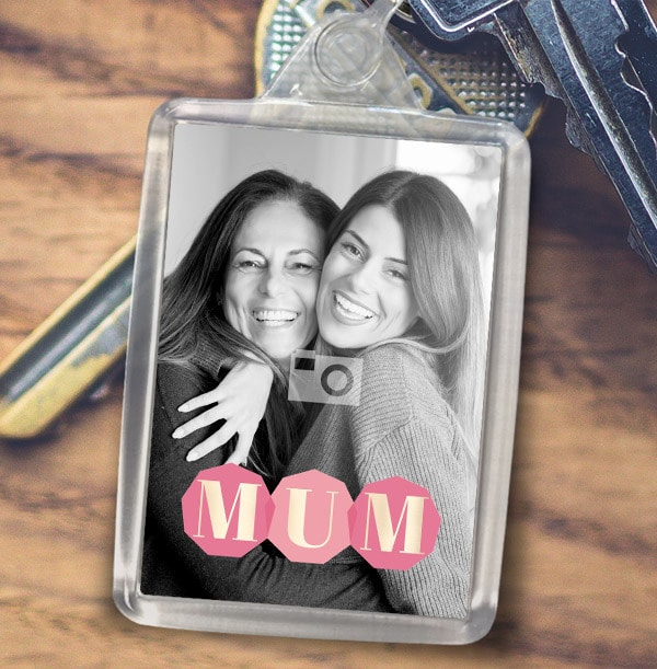 MUM Photo Keyring
