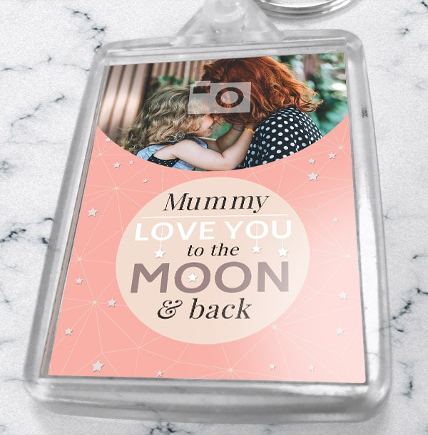 Mummy Love You To The Moon Photo Keyring