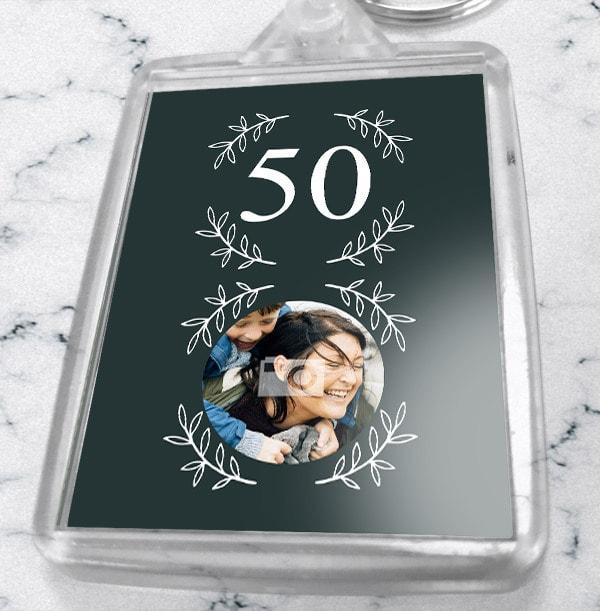 50th Birthday Photo Keyring