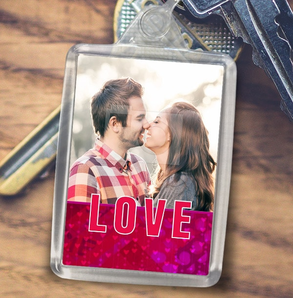 Love Themed Photo Keyring