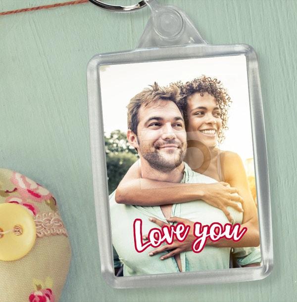 Love You Full Photo Keyring