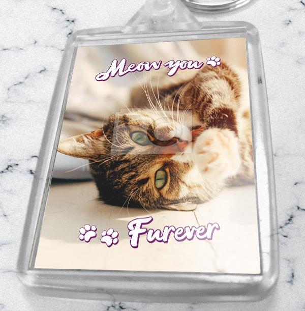 Meow You Furever Photo Keyring