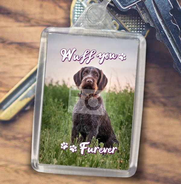 Wuff You Furever Photo Keyring