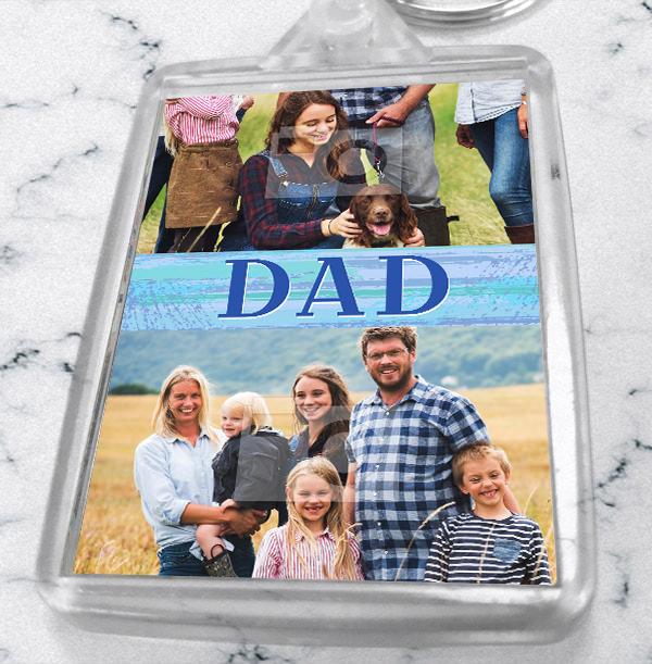 Dad Photo Collage Keyring