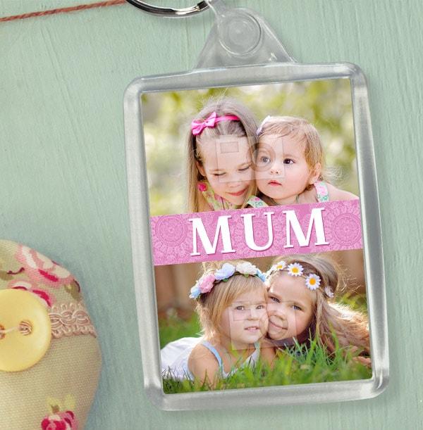 Mum Photo Collage Keyring