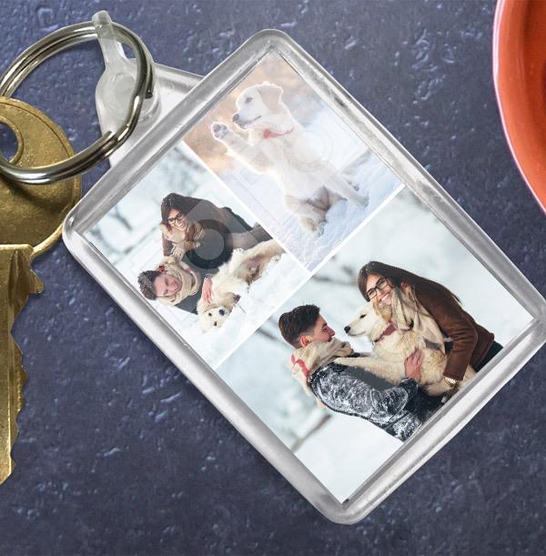 Christmas Keyring with 3 Photos