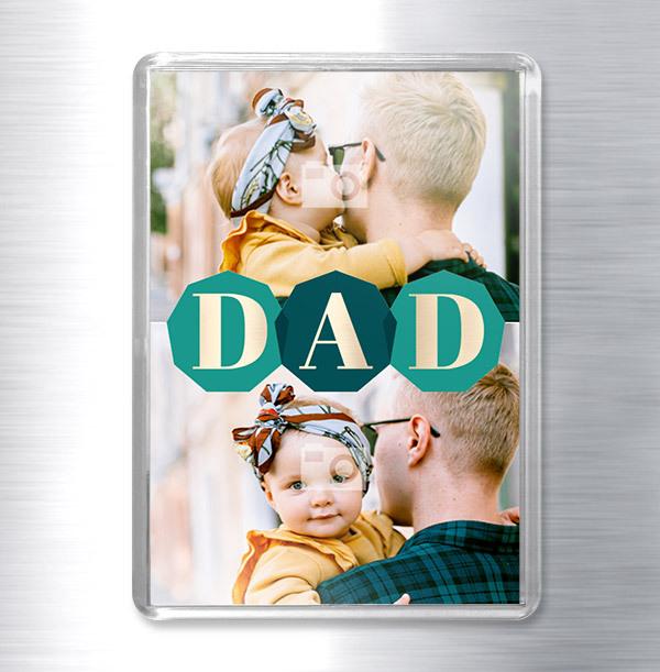 Dad multi photo Magnet