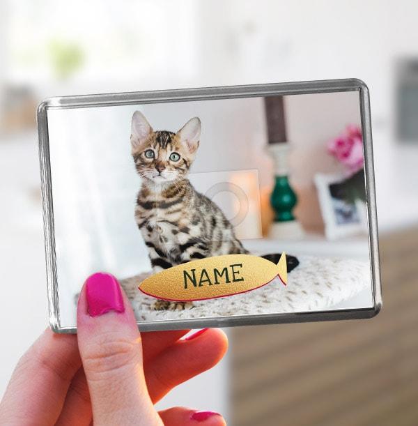 Pet Cat Photo Magnet - Landscape