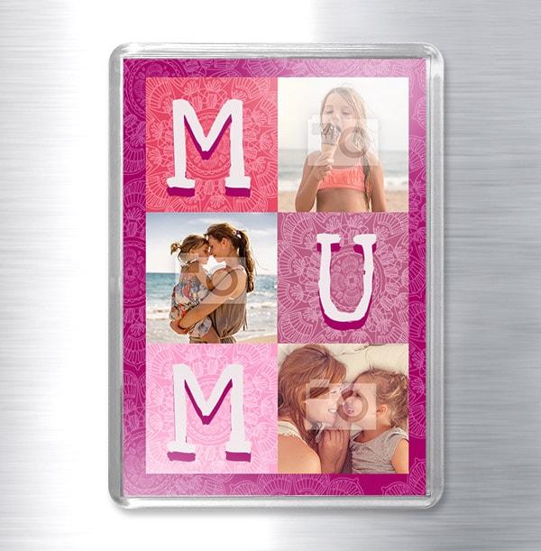 3 Photo Magnet for Mum