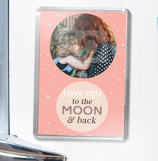 Love You To The Moon Photo Magnet