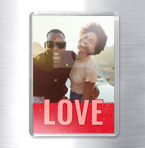 Love Photo Fridge Magnet - Portrait
