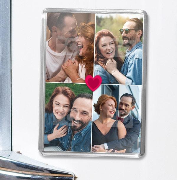 Heart Four Photo Magnet