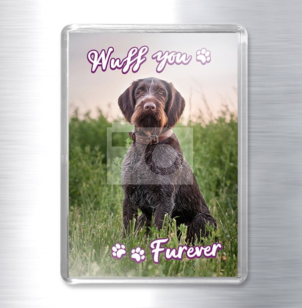 Wuff You Furever Photo Magnet