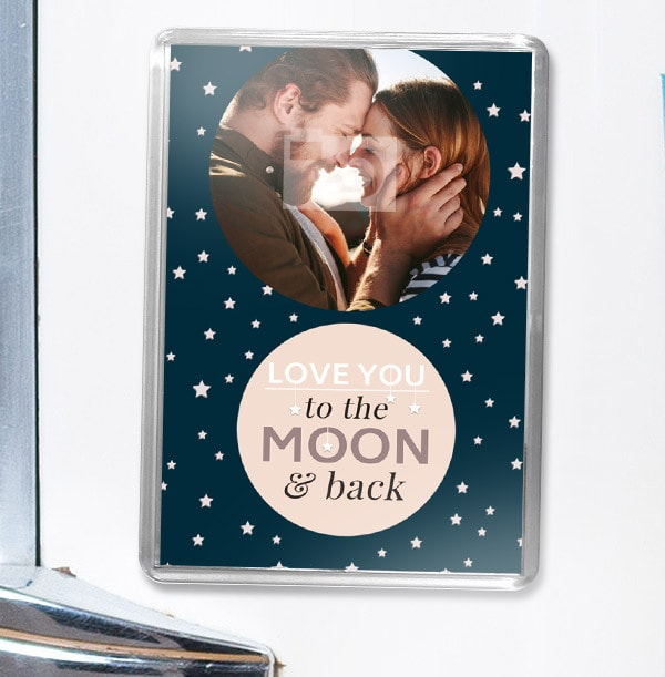 To The Moon & Back Photo Magnet