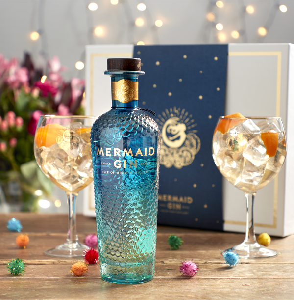 Mermaid Gin 70cl and Glasses Gift Pack