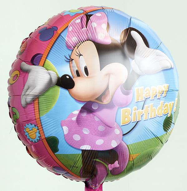 Minnie Mouse Birthday Balloon