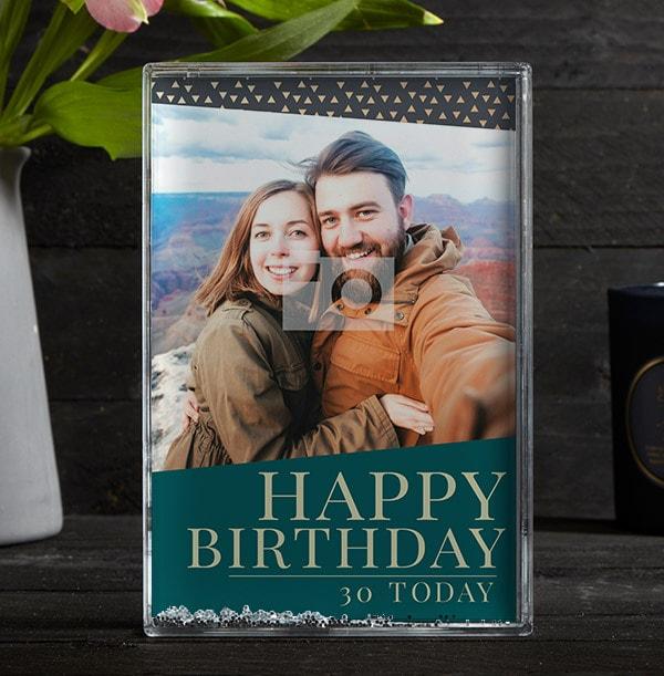 Happy 30th Birthday Full Photo Block - Portrait