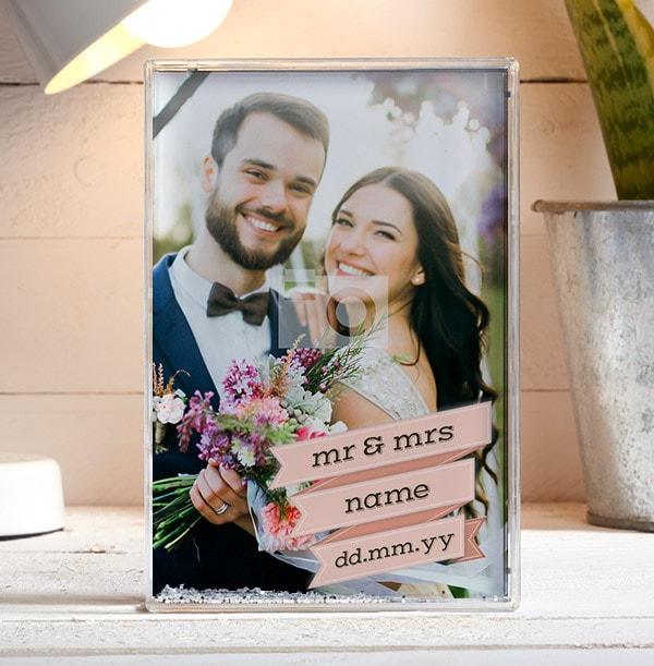 Mr & Mrs Full Photo Block - Portrait