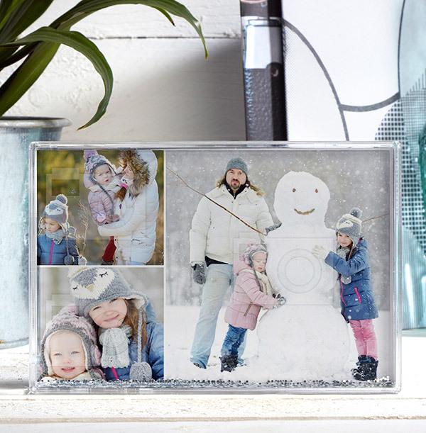 Christmas 3 Photo Acrylic Block - Landscape