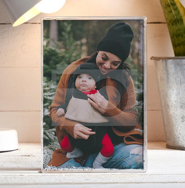 Christmas Acrylic Full Photo Block - Portrait