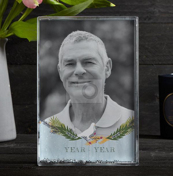 Memorial for Him Acrylic Full Photo Block - Portrait
