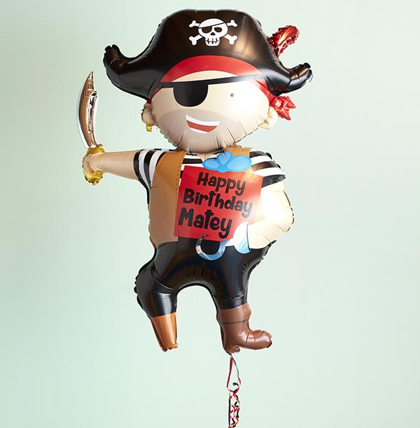 Happy Birthday Matey Pirate Balloon