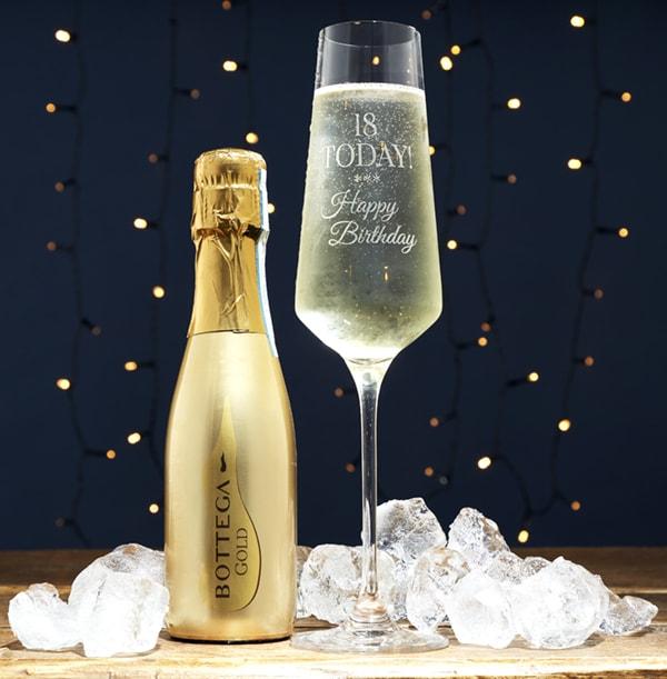 Bottega & Prosecco Glass 18th Birthday Gift Set