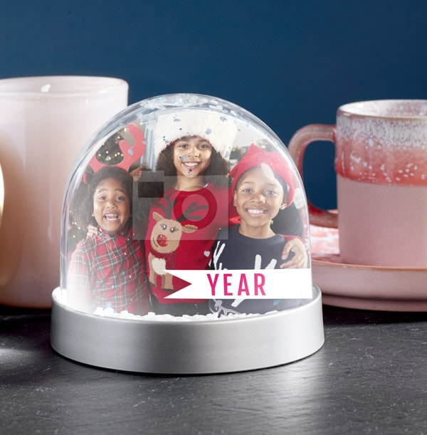 Full Photo Upload Year Snow Globe
