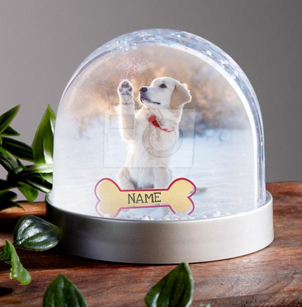 Dog Photo Upload Snow Globe
